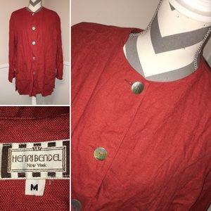 HENRI BENDEL | New York | 100% linen jacket
